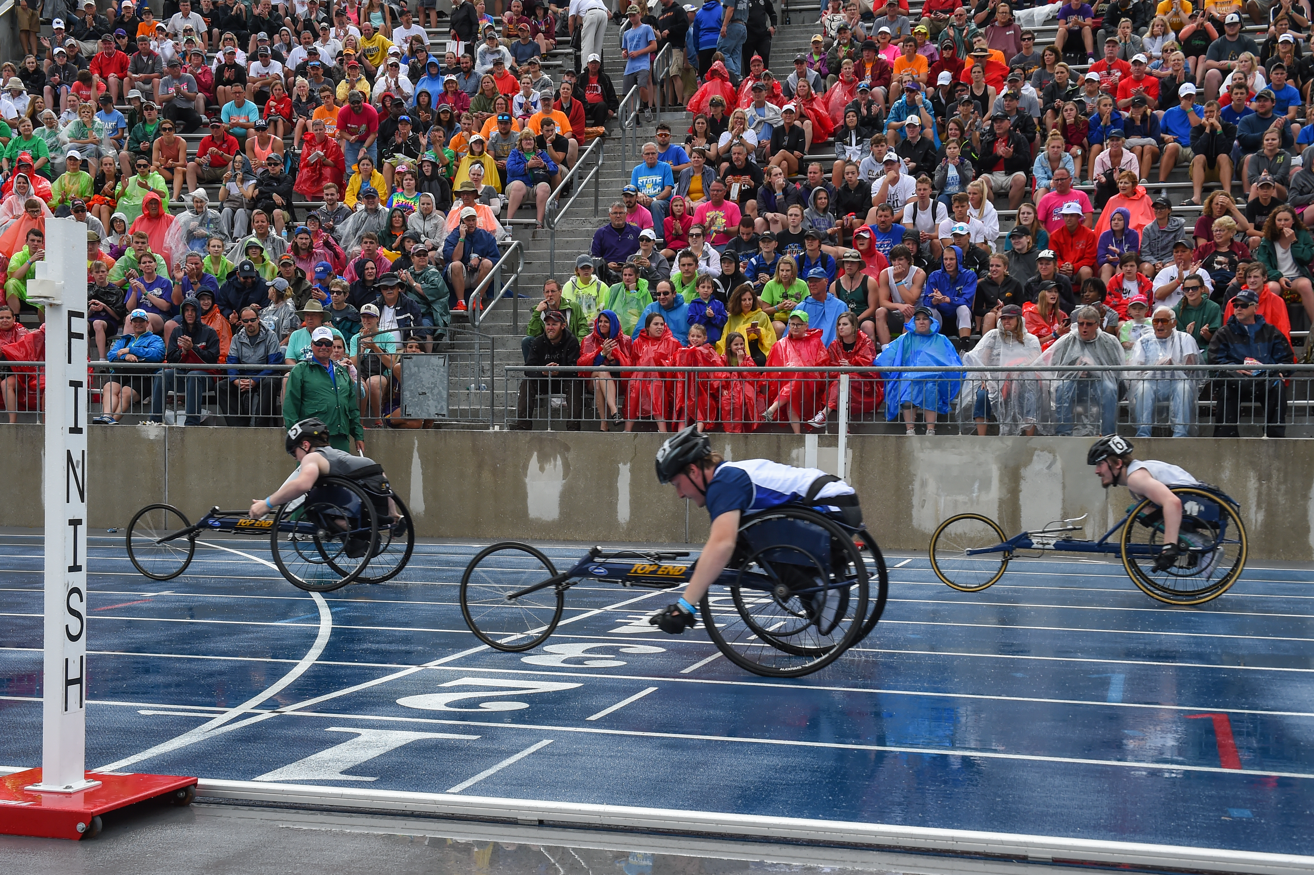 Man racing in a handcycle